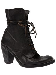 Guidi Lace Up Ankle Boot Black