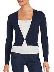 Hugo Boss Solid Textured Cardigan Blue