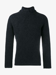 Our Legacy Wool Alpaca Blend Turtle Neck Sweater Black White