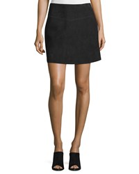Cnc Costume National Mid Rise Suede Skirt Black Women's
