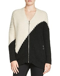 Maje Maelis Color Block Cardigan Two Tone