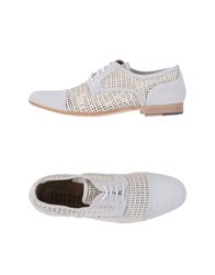 Sartore Lace Up Shoes Light Grey