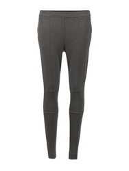 Morgan Knitted Jersey Leggings Dark Grey