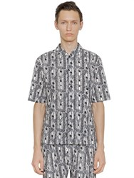 Christophe Lemaire Printed Cotton Short Sleeve Shirt