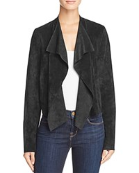 Velvet By Graham And Spencer Faux Suede Open Jacket Black