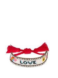 Shourouk Rainbow Love Bracelet Red White