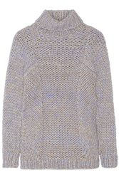 Zero Mariacornejo Arah Chunky Knit Alpaca Blend Turtleneck Sweater Gray