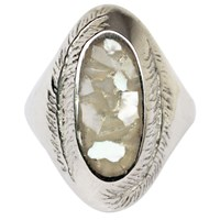 Stefanie Sheehan Jewelry Paradise Ring With Inlay Stonesterling Silver 8 Mother Of Pearl