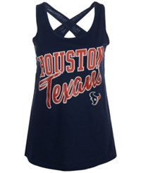 G3 Sports Women's Houston Texans Crossback Tank Navy