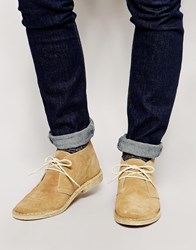 Asos Desert Boots In Suede Stone
