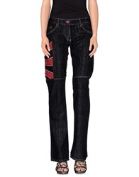 Kejo Denim Denim Trousers Women Black