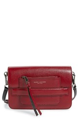 Marc Jacobs Madison Colorblock Leather Crossbody Bag Red Deep Maroon Multi