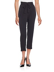 Ella Moss Belted Paperbag Trousers Black