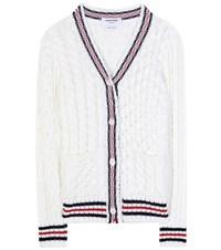 Thom Browne Knitted Wool Sweater White