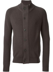 Z Zegna Ribbed Front Button Fastening Cardigan