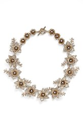 Marchesa Women's Crystal Collar Necklace