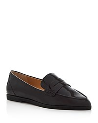 Michael Michael Kors Connor Patent Pointed Toe Penny Loafers Plum