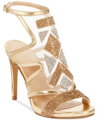 Thalia Sodi Regalo Embellished Sandals Only At Macy's Women's Shoes Gold