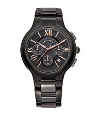 Philip Stein Teslar Mens Round Chronograph Watch Black