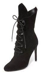 Kendall Kylie Maya Lace Up Booties Black
