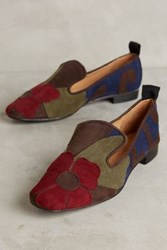Anthropologie Maliparmi Gardenia Suede Loafers Blue