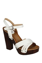 Refresh Alisa Cross Strap High Heel Sandal White