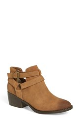 Women's Bc Footwear 'Communal' Bootie Tan Faux Leather