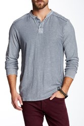 Affliction Standard Long Sleeve Thermal Henley Gray