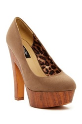 Elegant Footwear Aggis Platform Pump Brown