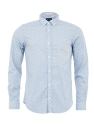 Eden Park Flower Shirt Blue