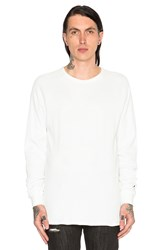 Black Scale Stingray L S Tee White