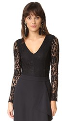 Ella Moss Trello Lace Bodysuit Black