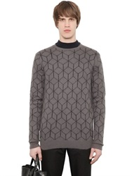 Christopher Kane 3D Cube Mohair Blend Jacquard Sweater
