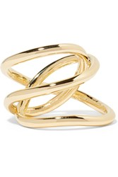 Jennifer Fisher Small Abstract Line Gold Plated Ring
