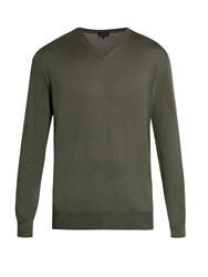 Lanvin V Neck Cashmere Sweater Green