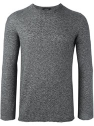 Roberto Collina Crew Neck Sweater Grey
