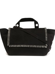 Orciani Chain Trim Tote Black