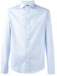 Armani Jeans Plain Shirt Blue
