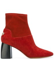 Tory Burch 'Sidney' Boots Red