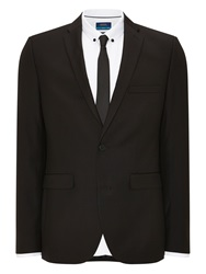 Burton Plain Slim Fit Suit Jackets Black