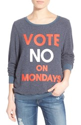 Wildfox Couture Women's Wildfox 'Baggy Beach Jumper No On Mondays' Pullover