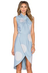 Ty Lr The Dot Discovery Dress Blue