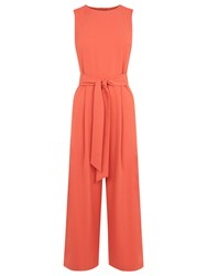 Warehouse Open Back Jumpsuit Coral