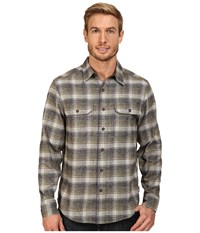 Royal Robbins Performance Flannel Long Sleeve Overshirt Blue Stone Men's Long Sleeve Button Up