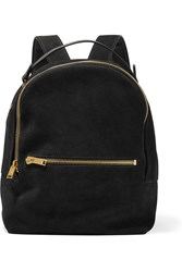 Sophie Hulme Wilson Medium Suede And Leather Backpack Black