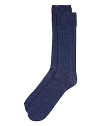 Bloomingdale's The Men's Store At Ribbed Cashmere Blend Socks In Gift Box Denim