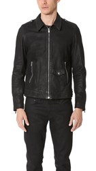 The Kooples Leather Jacket Black