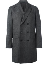 Aspesi Double Breasted Coat Grey