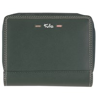Tula Violet Leather Wallet Purse Green