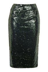 Sequin Bodycon Midi Skirt By Rare Green